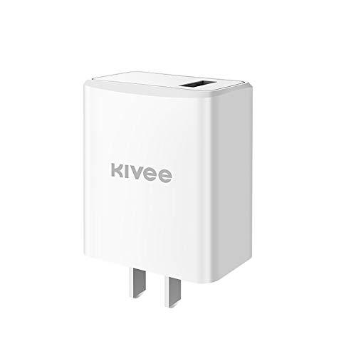 Cargador de Viaje Adaptador USB Cargador de energía 18W, Liqingshangmao (Color : White)