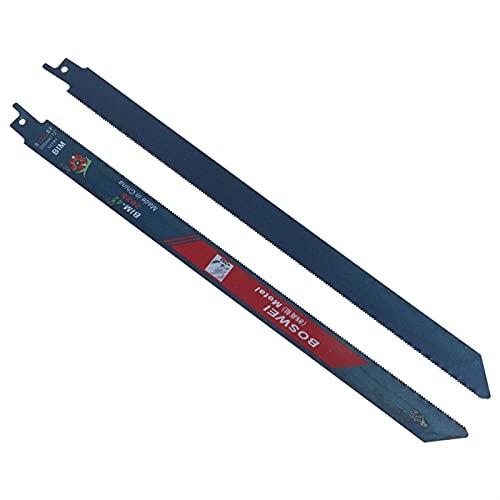 ZHOUCHENPQ Outils 2pcs 300mm 18TPI BIM BIM Pares de scie à réciprociter pour Couper des Feuilles en Aluminium en métal en Plastique en Bois