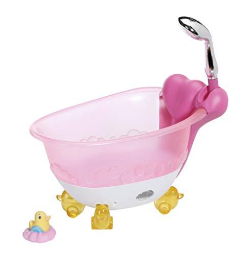 Zapf Creation 828366 BABY born Bath Badewanne mit Licht- und Sound-Effekten und Badeente, Puppenzubehör für Puppen bis 43 cm