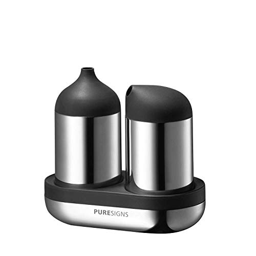 Puresigns BREEZE Zuckerstreuer und Milchkännchen Edelstahl Poliert Silber