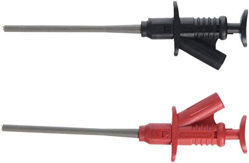 PeakTech Isolierte 5 A Abgreifklemme mit 4 mm Buchsen - CAT III, P 7010, Rot, Schwarz