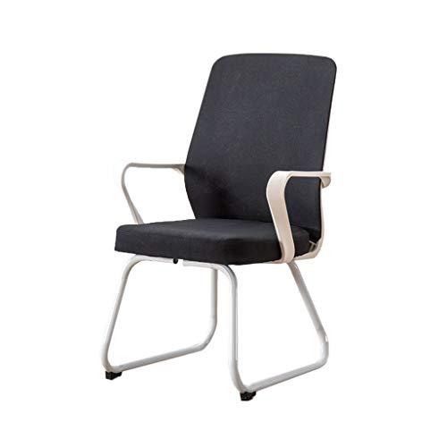 AOYANQI-Schreibtischstühle Empfangsstuhl, grau / schwarzer Sessel Robuster, strapazierfähiger Konferenzstuhl Studentischer Schlafsaalstuhl Hotel-Sessel Personal-Bürostuhl Büromöbel ( Color : Black )