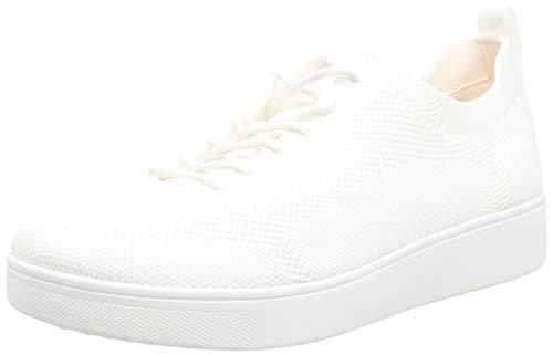 Fitflop Rally Tonal Knit Sneakers, Zapatillas Mujer, Blanco Urbano, 37 EU