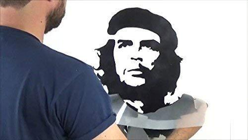 Banksy Che Guevara Schablone wiederverwendbar startseite-wand-dekor Schablone Graffiti Banksy Stil Kunst Schablone Wandfarbe Stoffe & Möbel - halb transparent Schablone, S/ 17X24CM
