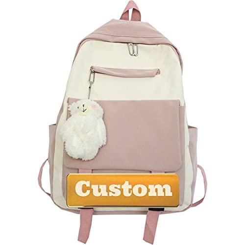 WDEEFR Pequeño niño Personalizado Lightweight Daypack Mochila Senderismo Hombres Mochila de Moda Ligera for Mujeres (Color : Pink, Size : One Size)