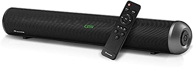 Wohome Sound Bar S88 20-Inch 50W Audio Stereo Home Theater Soundbar Speaker, with Bluetooth 5.0, 3D Surround Sound, 3 EQs, Optical/Aux/Coaxial/HDMI/USB, Compatible with 4K & HD & Smart TV