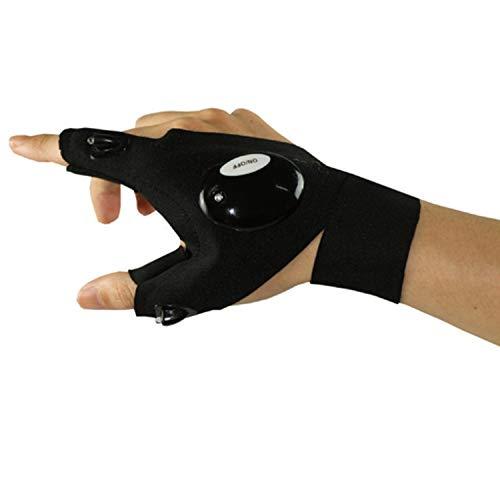 Ausgezeichneter Handschuh Outdoor-sportarten LED Handschuh Nachtsicht Ansicht Angeln Laufen Fixierung Scheinwerfer Reparatur Lampe Taschenlampe Taschenlampe Lite Fingerless Einfach an- und auszuziehen