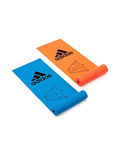 adidas ADTB-10604 Bandas de Entrenamiento, Juego de 2, Unisex-Adult, Naranja/Azul, Talla Única