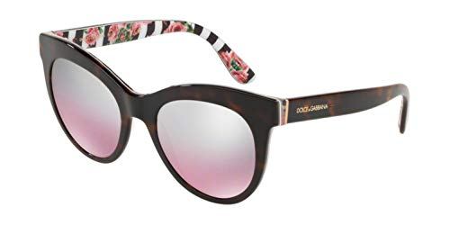 Dolce & Gabbana 0DG4311 Gafas de sol, Havana On Print Rose, 51 para Mujer