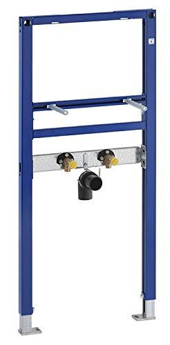 Geberit GEB111430001 Duofix Montageelement für Waschtisch 112 cm (Fußstützen verstellbar 0-20 cm, Rahmen pulverbeschichtet)