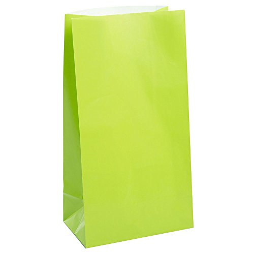 Lime Green Paper Party Favor Bags, 12ct