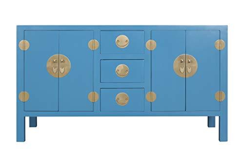 Fine Asianliving Aparador Chino Azul Cielo - Orientique Colección A160xP50xA90cm