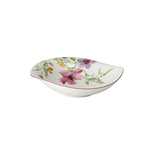 Villeroy & Boch - Mariefleur Basic Serve & Salad tiefe Schale, Schale für Beilagen und Salate, 21 x 18 cm, Premium Porzellan, weiß/bunt