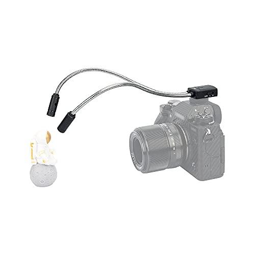 JJC Macro Arm Light, 5600K Lampada Makro-LED flessibile per Nikon Canon Sony DSLR Camera, 5 livelli di ingrandimento Beleuchtung Hot Shoe Mount Flash Passt Shooting Insekten Pflanzen Schmuck and more
