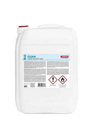 ADLER Clean Hand Disinfectant 10 Liter - Desinfektionsmittel Hand lt. WHO Rezeptur