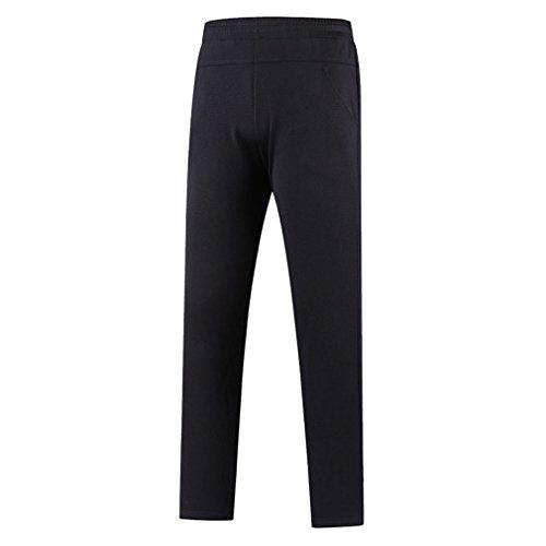 emansmoer Hommes Longue Outdoor Respirant Élastique Stretch Casual Sports Pantalon Slim Fit Fitness Trousers Camping Randonnée Pantalon Vêtement de Sport (XXXX-Large, Noir)