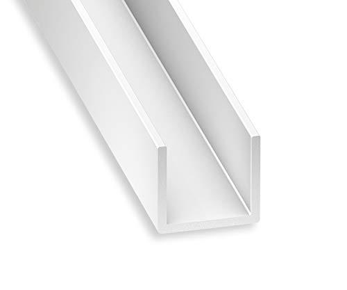 CQFD U PVC blanco 10 x 12 x 10 x 1 mm int.10 1m