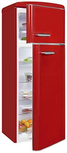 Exquisit Frigorífico retro RKGC270-45-H-160E rojo | dispositivo de pie | 208 litros de volumen | rojo