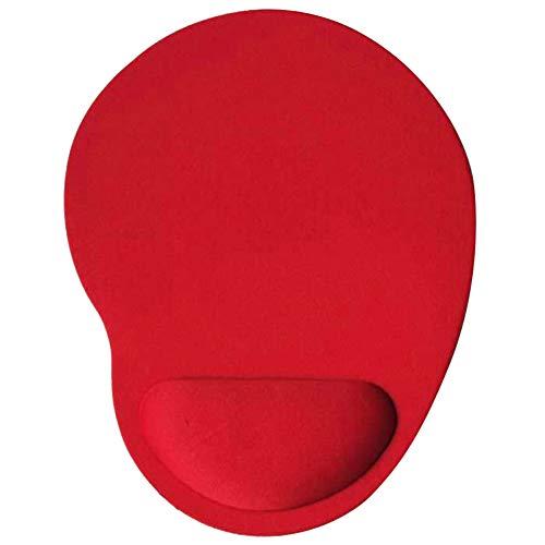 Benoon Tappetino Per Mouse Universale Con Comodo Cuscino Da Polso Morbido, Tappetino Antiscivolo In Tinta Unita Adatto Per Giochi Di Lavoro Rosso