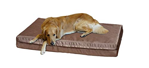 PetBed4Less Deluxe Orthopedic Memory Foam Dog Bed Pet Pad with Heavy Duty and Removable Zipper Case + Free Waterproof Dog Bed Liner [Replacement Zipper Covers Available]