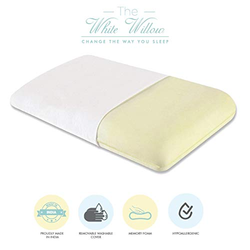 "The White Willow King Orthopedic Memory Foam Bed Pillow - 24""L x 15""W x 5""H, Off White"