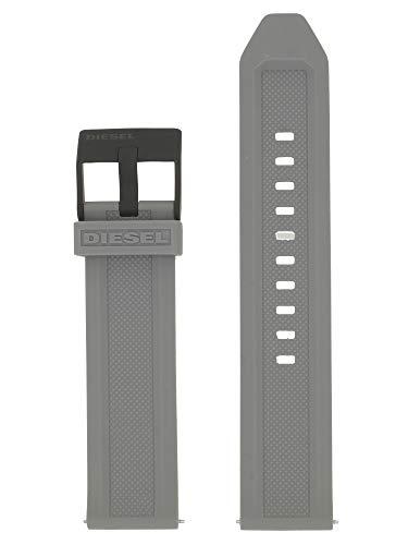 Diesel LB-DZ1878 - Correa de repuesto para reloj (caucho, 22 mm), color gris
