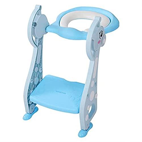 Soporte tv Adaptador WC for Niños con Escalera Antideslizante, Altura Ajustable-Reductor WC/Orinal Plegable for Niños.