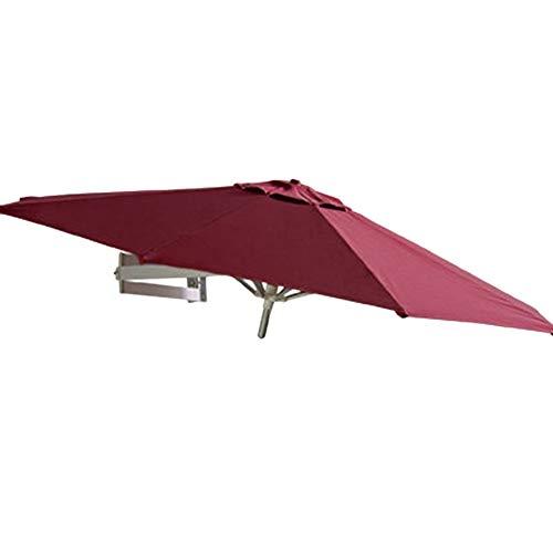 HWF Sonnenschirm Gartenschirm Ampelschirm Strandschirm Wand-Sonnenschirm für Den Außenbereich, Patio-Gartenbalkon-Hofschirm, Kippbarer Sonnenschirm-Wandschirm mit Aluminiumrahmen