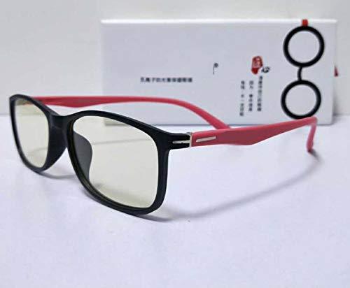 Anti-Straling Bril, Platte Spiegel Voor Kinderen Anti-Bijziendheid Computer Leesbril Computer Leesbril Met Anti-Licht Bril Voor Kinderen 3-12 Jaar Rood