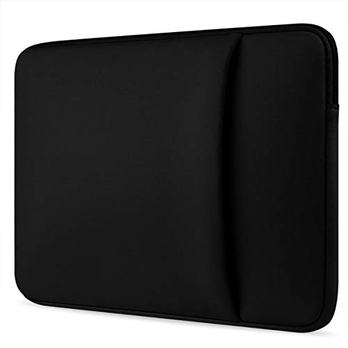 Brushed Laptop Sleeve Bag Notebook Computer Pocket Protection for Macbook Air Protecting Case Portable Cover - Black - 14 inches
