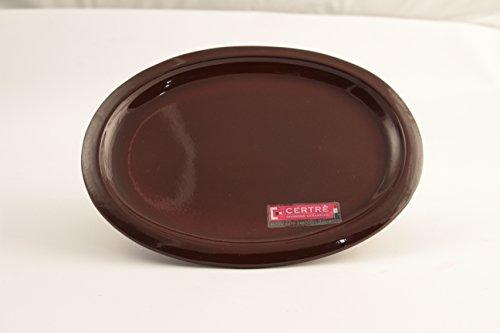 CERTRE Sottovaso Ovale in gres Ceramica Art.S6000- cm.33x25x2h.- Colore Cuoio Smaltato