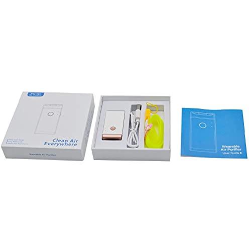 Guanweun QuQiaoUK persönlicher tragbarer Luftreiniger Halskette/Mini tragbarer Lufterfrischer Ionisator Luftreiniger für Zuhause Honeywell