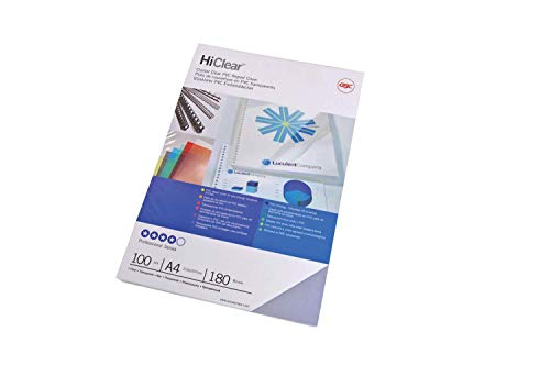 GBC CE011580E - Portada de encuadernación PVC transparente DIN A4 150 micras (Pack 100) color cristal