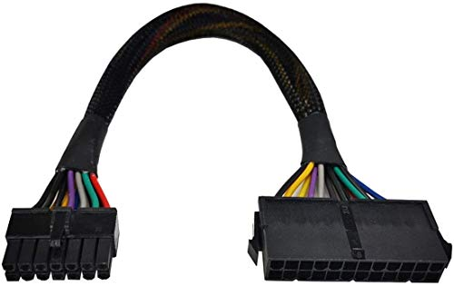 24-Pin to 14-Pin Cable(12-inch), for ATX PSU Main Power Adapter Cable, Plug and Play, for Lenovo IBM Dell, Q75 Q77 A75 B75