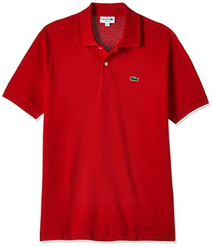 Lacoste L1212 T-Shirt Polo, Uomo, Rosso, 4XL
