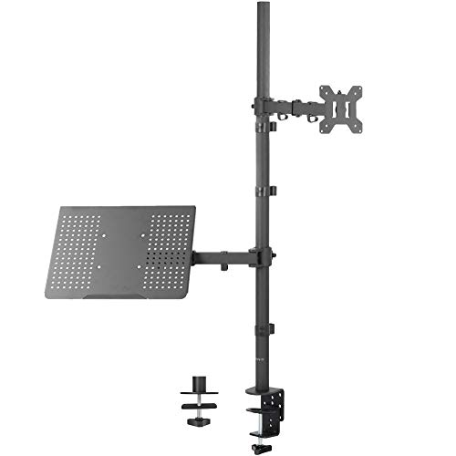 VIVO Laptop and 13 to 32 inch LCD Monitor Stand up Desk Mount, Extra Tall Adjustable Stand, Fits Laptops up to 17 inches, STAND-V012C