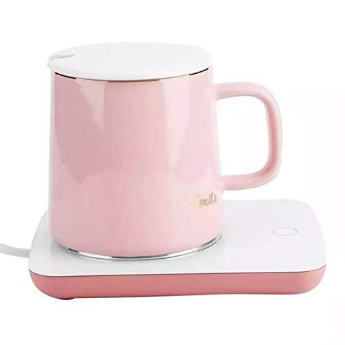 QQO Tasse à café Chauffe-Tasse de Cuisson de Boisson Intelligente, Tache de Tasse de Coaster Tapis de Cuisson Chaud pour Le thé, l'eau, Le Cacao, Le Lait