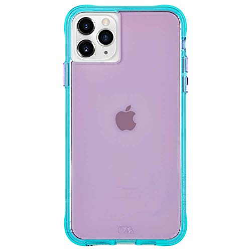 Case-Mate - Tough NEON - Case for iPhone 11 Pro - 5.8 inch - Purple/Turquoise Neon