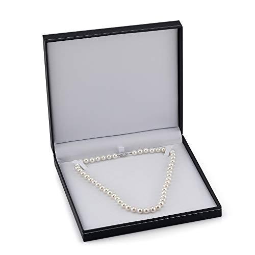 Collier de perles rondes de culture d'eau douce blanches 9-10mm - 3