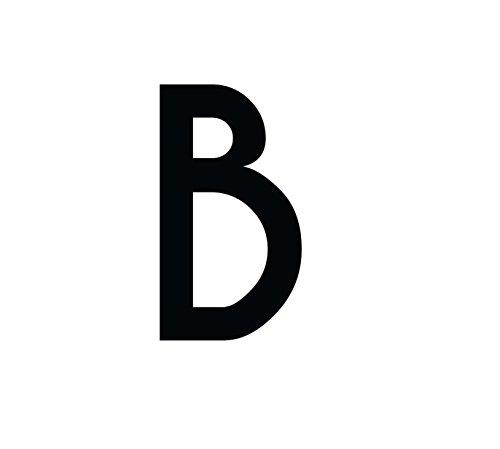 Buchstaben Aufkleber, wetterfest, einzelner Buchstabe B, schwarz, 10 cm (100mm) großgeschrieben