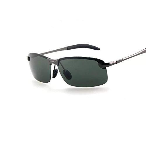XXBFDT Marco metal ligero vintage/clásico/elegante - Gafas de sol polarizantes caóticas día y noche.-Armazón de pistola