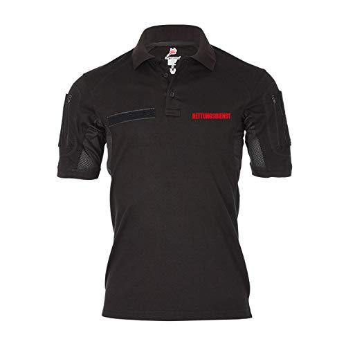 Copytec Tactical Poloshirt Rettungsdienst Sanitäter Arzt Notarzt Arzthelfer #31282, Größe:XXL, Farbe:Schwarz