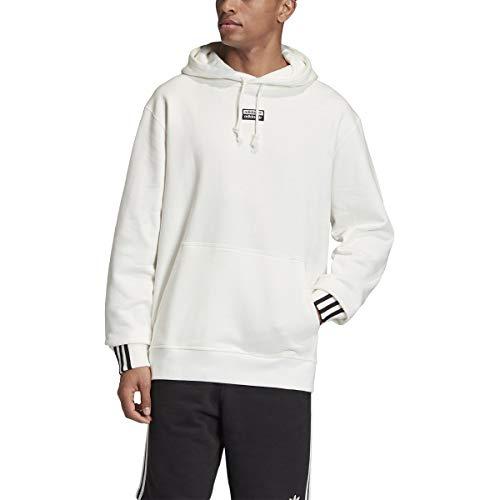 adidas Essentials - Sudadera con Capucha para Hombre con 3 Rayas, Color Blanco