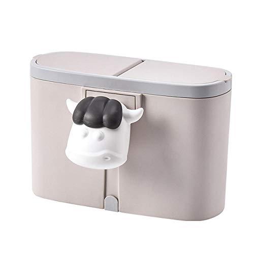 SKKGR Tischmilleimer Klein Küchentheke Mülleimer Desktop Cute Mini Abfall Abfallbehälter Kreative Sortierung Mülleimer Mit Deckel Mülleimer Handyhalter-B_China
