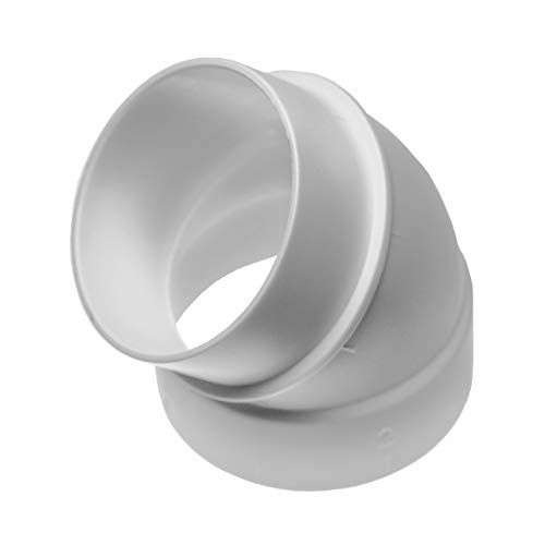 vhbw 45° Rohrbogen, innen/außen passend für Zentral-Staubsaugeranlage, 50.8mm Durchmesser / 2\'\'Rundrohrsystem