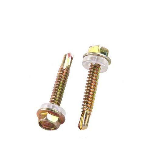 50PCS M5.219/25/32-100Mm Drilling Hexagonal Self Drilling Screws, Dovetail Screws Padded Blacksmith Screw 25mm M5.2