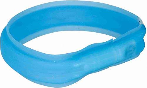 TRIXIE Banda con Luz Flash USB, M-L, 50 cm/30 mm, Azul, Perro