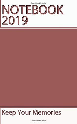 NoteBook 2019: Calendar ,Marsala Color, Pantone