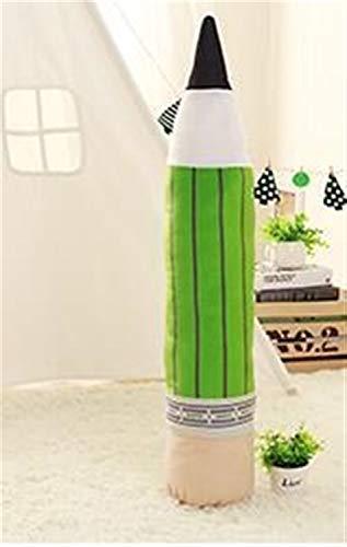 Yuhualiyi123 1 stück Kreative Plüsch Bleistift Stift Spielzeug Kissen Kissen Kissen Stofftiere Puppen Geburtstag Hochzeitsgeschenk Home Schlafzimmer Shop Decor (Color : Green, Size : 70cm)