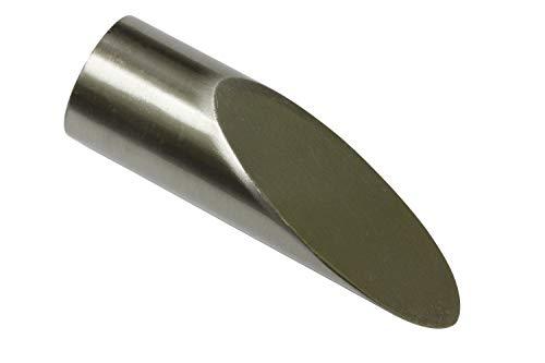 Gardinia Endknopf aluminum edelstahl-optik Ø 16 mm 2